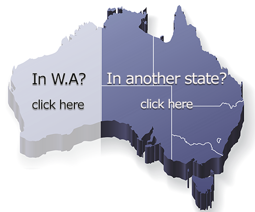 Map of Australia - Choose your state