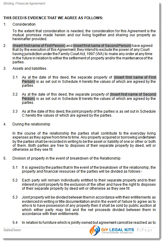 WA cohabitation agreement Peaceful Path to Settlement – Sample Cohabitation Agreement Template