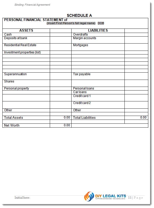 cohabitation agreement sample