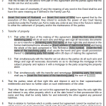 Divorce Agreement Transfer Clauses