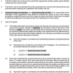 divorce agreement sample 2