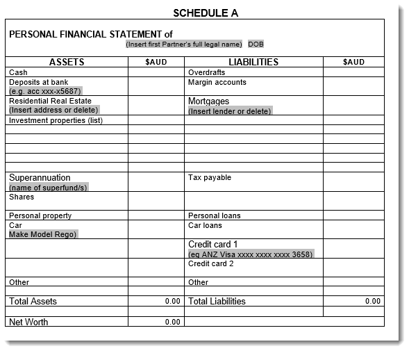 Schedule Assets