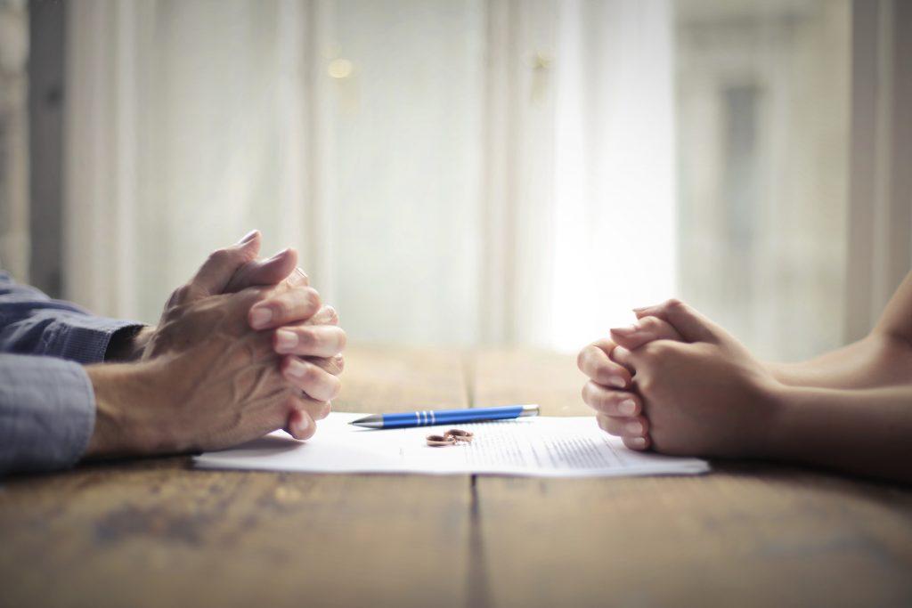 Couple Filing Divorce